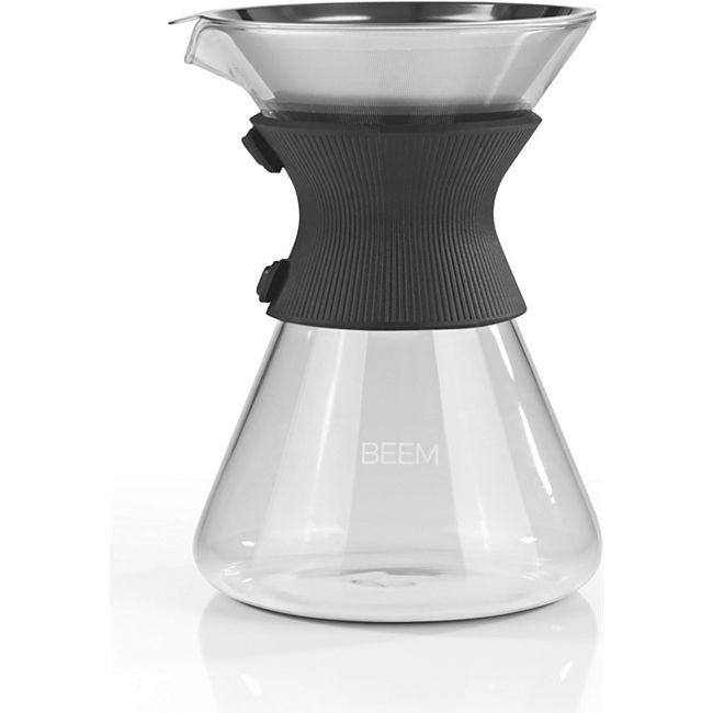 BEEM Kaffeebereiter Glas Pour Over 750ml schwarz/Edelstahl - Bild 1