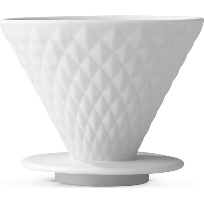 BEEM Kaffeefilter Porzellan Diamantoptik weiß mit Standfuß - Bild 1