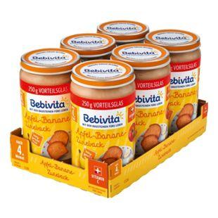 Bebivita Apfel-Banane-Zwieback 250 g, 6er Pack - Bild 1