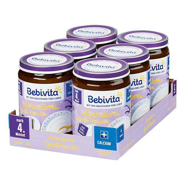 Bebivita Abendbrei Grieß-Vanille ab dem 4. Monat 190 g, 6er Pack - Bild 1