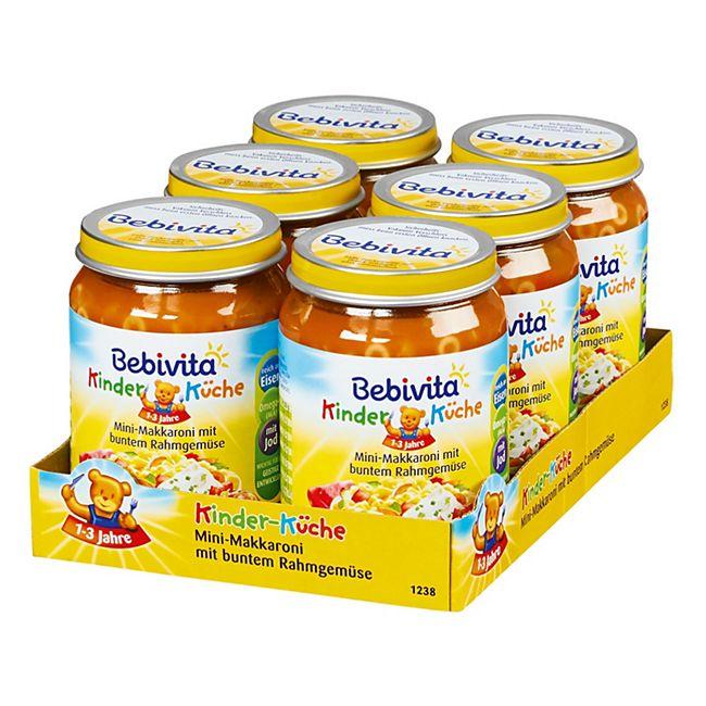 Bebivita Kinder-Küche Mini-Makkaroni mit buntem Rahmgemüse 250 g, 6er Pack - Bild 1