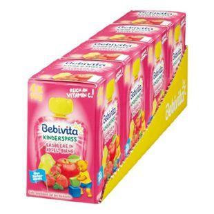 Bebivita Kinderspaß Erdbeere in Apfel-Birne 360 g, 4er Pack - Bild 1
