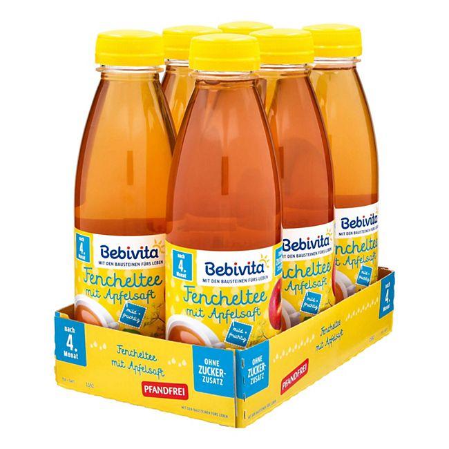 Bebivita Fencheltee mit Apfelsaft 0,5 Liter PET, 6er Pack - Bild 1