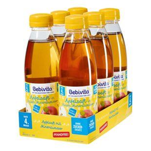Bebivita Apfelsaft mit Mineralwasser 0,5 Liter PET, 6er Pack - Bild 1