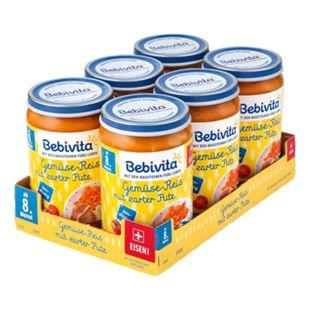 Bebivita Menü Gemüse-Reis mit zarter Pute 220 g, 6er Pack - Bild 1