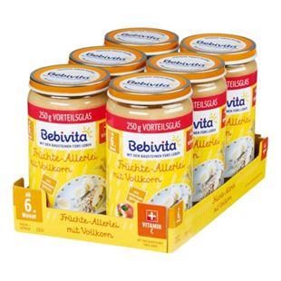 Bebivita Früchtegläschen Allerlei mit Vollkorn 250 g, 6er Pack - Bild 1
