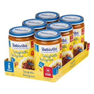 Bebivita Menü Spaghetti Bolognese 220 g, 6er Pack - Bild 1