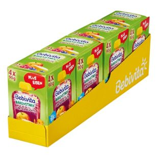 Bebivita Kinderspaß Gartenfrüchte 4 x 90 g, 4er Pack - Bild 1