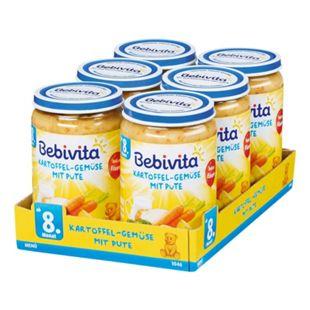 Bebivita Menü Kartoffel-Gemüse mit Pute 220 g, 6er Pack - Bild 1