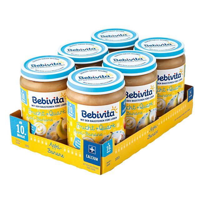 Bebivita Apfel-Banane Quark 190 g, 6er Pack - Bild 1