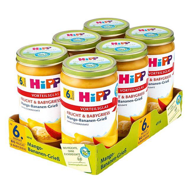 HiPP Bio Mango Bananen Grieß 250 g, 6er Pack - Bild 1