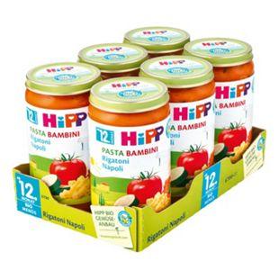 HiPP Bio Menü Pasta Rigatoni Napoli 250 g, 6er Pack - Bild 1