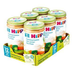 HiPP Bio Menü Gemüserisotto mit zarter Pute 250 g, 6er Pack - Bild 1