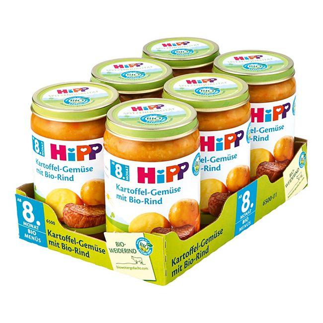 HiPP Bio Kartoffelgemüse mit Bio-Rind 220 g, 6er Pack - Bild 1