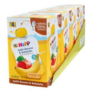 HiPP Bio Quetschen Apfel-Banane nach dem 4. Monat 360 g, 4er Pack - Bild 1