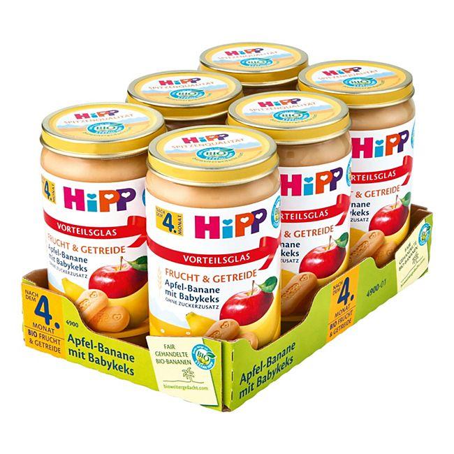 HiPP Bio Apfel-Banane mit Babykeks 250 g, 6er Pack - Bild 1