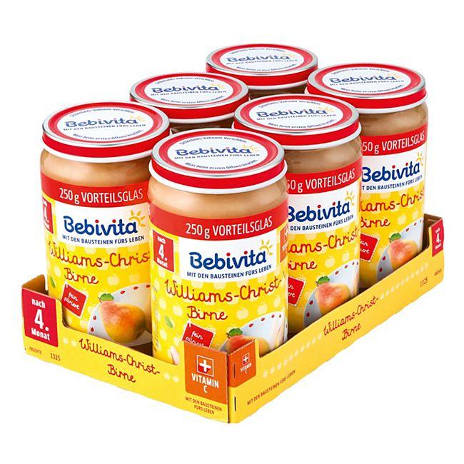 Bebivita Früchtegläschen Williams-Christ-Birne 250 g, 6er Pack - Bild 1