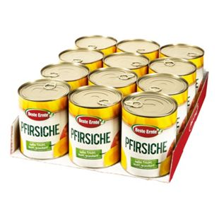 Beste Ernte Pfirsiche leicht gezuckert 480 g, 12er Pack - Bild 1