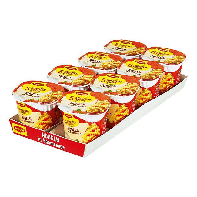 Maggi 5 Minuten Terrine Nudeln in Rahmsoße 61 g, 8er Pack - Bild 1
