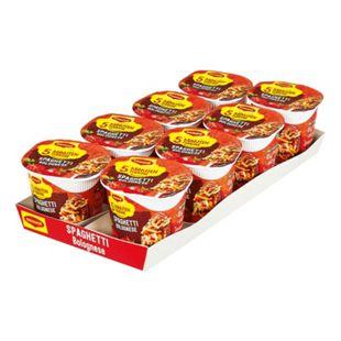 Maggi 5 Minuten Terrine Spaghetti Bolognese 60 g, 8er Pack - Bild 1
