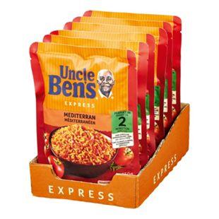 Uncle Bens Expressreis Mediterran 250 g, 6er Pack - Bild 1