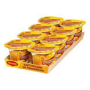 Maggi 5 Minuten Terrine Kartoffelbrei mit Fleischklößchen 46 g, 8er Pack - Bild 1