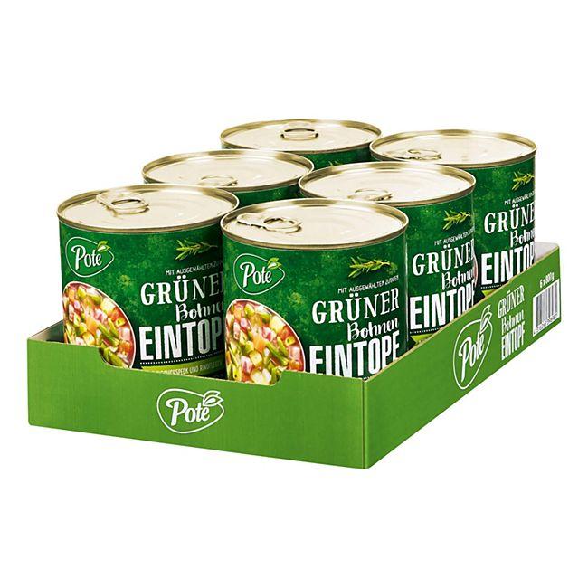 Pote Grüner Bohneneintopf 800 g, 6er Pack - Bild 1