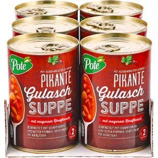Pote Gulaschsuppe 400 ml, 6er Pack - Bild 1