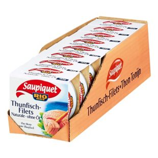 Saupiquet Thunfisch-Filets natur 130 g, 8er Pack - Bild 1