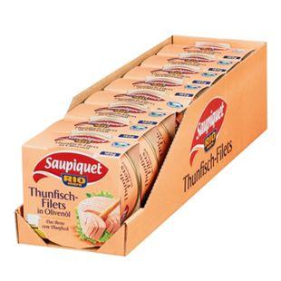 Saupiquet Thunfischfilet in Olivenöl 185 g, 8er Pack - Bild 1