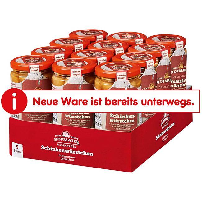 Hofmaiers Schinkenwürstchen 250 g Abtropfgewicht, 12er Pack - Bild 1