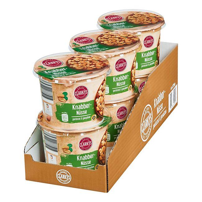 Clarky's Snack Nüsse geröstet & gesalzen 275 g, 6er Pack - Bild 1