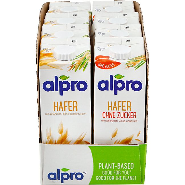 Alpro Haferdrink 1 Liter, verschiedene Sorten, 8er Pack - Bild 1