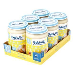 Bebivita Frucht & Joghurt Pfirsich-Maracuja 190 g, 6er Pack - Bild 1
