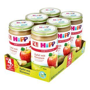 HiPP Bio Frucht Apfel mit Bananen 250 g, 6er Pack - Bild 1