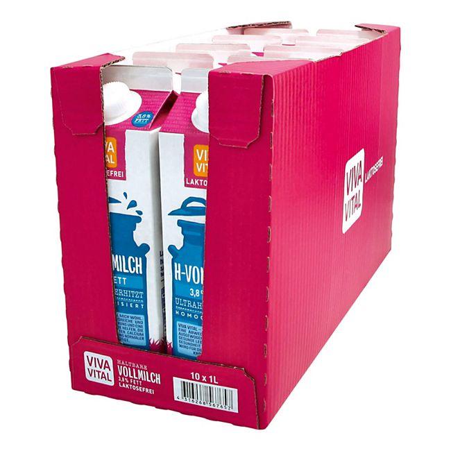 Viva Vital Laktosefreie H-Milch 3,8% Fett 1 Liter, 10er Pack - Bild 1
