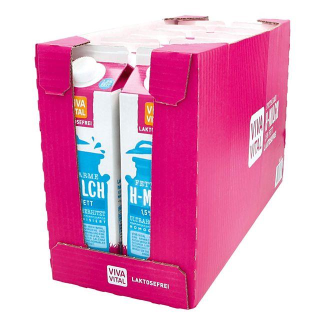 Viva Vital Laktosefreie H-Milch 1,5% Fett 1 Liter, 10er Pack - Bild 1