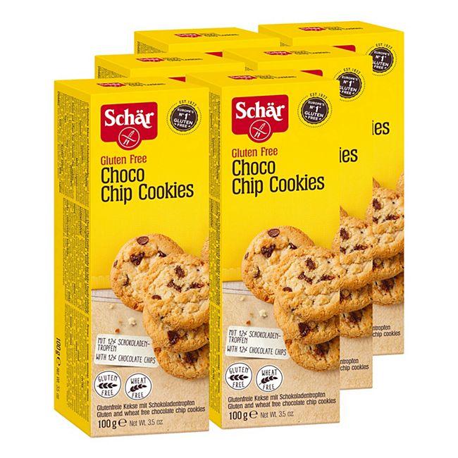 Schär Choco Chip Cookies 100 g, 6er Pack - Bild 1