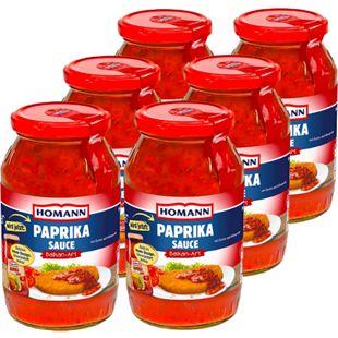 Homann Paprika Sauce Balkan Art 500 ml, 6er Pack - Bild 1