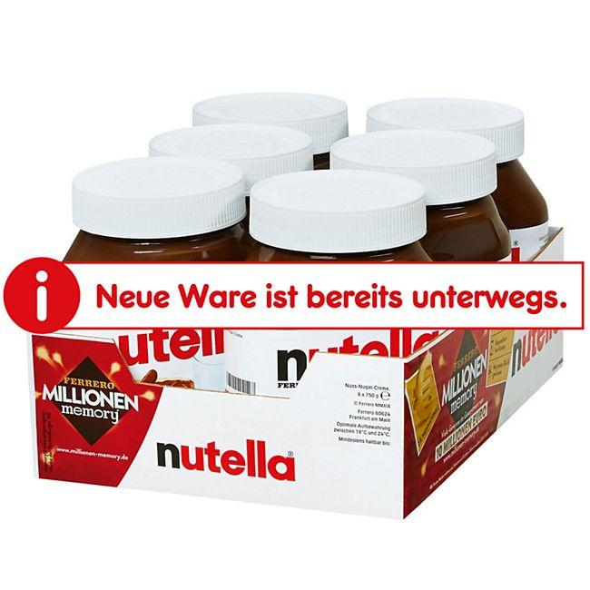 Nutella 750g, 6er Pack - Bild 1