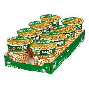 Knorr Snack Becher Nudeln in Pilz Rahm Sauce 70 g, 8er Pack - Bild 1