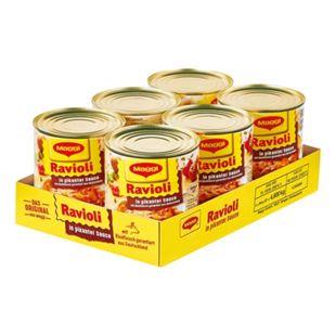 Maggi Ravioli in pikanter Sauce mit Fleisch 800 g, 6er Pack - Bild 1