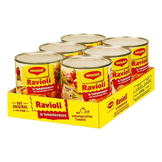 Maggi Ravioli in Tomatensauce 800 g, 6er Pack - Bild 1