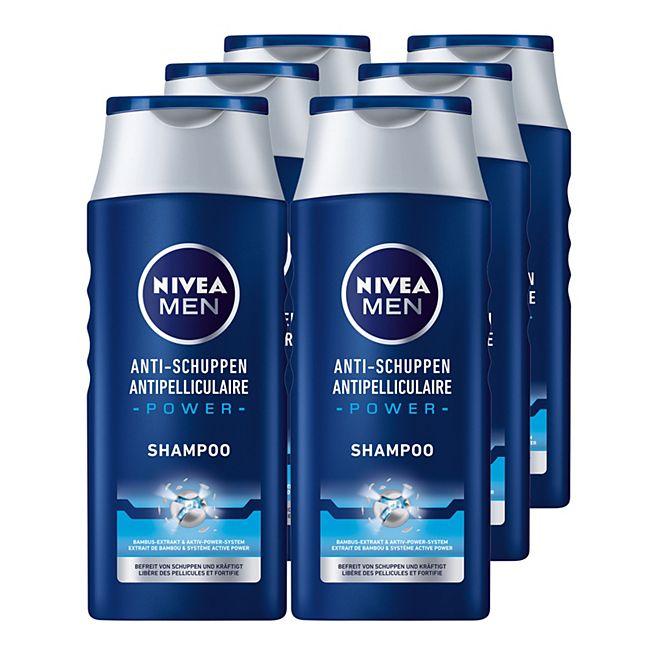 NIVEA Men Anti-Schuppen Power Shampoo 250 ml, 6er Pack - Bild 1
