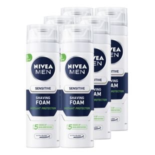 Nivea men Rasierschaum sensitiv 200 ml, 6er Pack - Bild 1