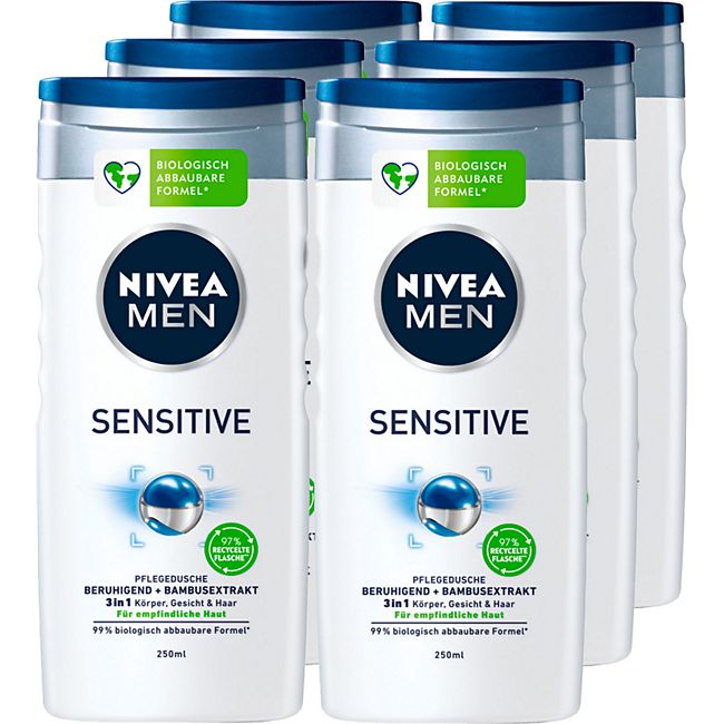 NIVEA MEN Sensitive Pflegedusche 250 ml, 6er Pack - Bild 1