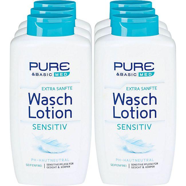 Pure & Basic Waschlotion Sensitiv 500 ml, 6er Pack - Bild 1