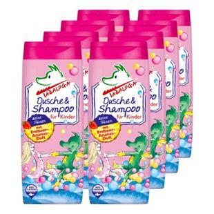 TABALUGA Dusche & Shampoo rosa 300 ml, 8er Pack - Bild 1