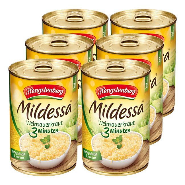 Hengstenberg Mildessa 3 Min. Sauerkraut 400 g, 6er Pack - Bild 1