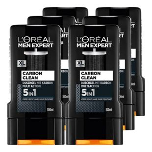 Loreal Men Expert Duschgel Carbon Clean 300 ml, 6er Pack - Bild 1